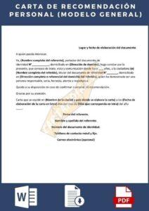 Carta De Recomendación Personal General Descarga