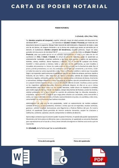 carta de poder notarial