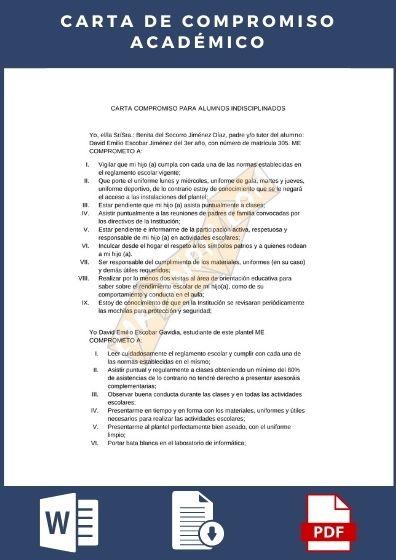 Carta de compromiso academico