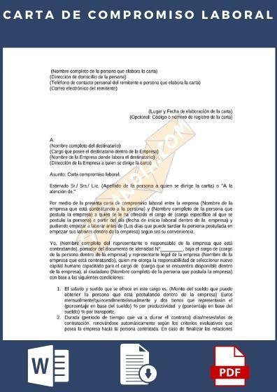 Carta de compromiso laboral