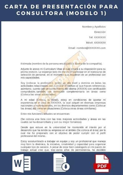 Cartas de Presentación para consultora